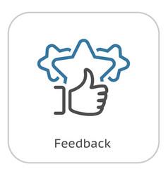 Feedback line icon vector