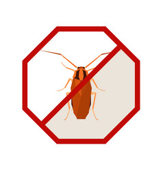 flat geometric sign with cockroach vector image