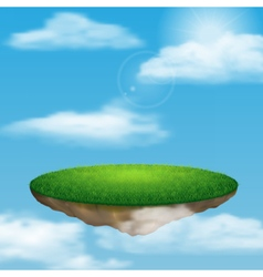 Floating island in sky vector image