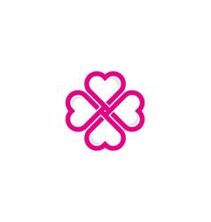 flower love logo icon design vector image