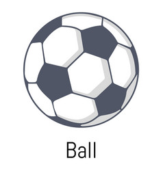 football ball icon cartoon style vector image