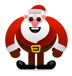 funny cartoon character cool santa claus vector image