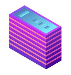 futuristic building icon isometric style vector image