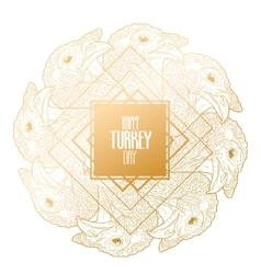 Graphic turkey design vector