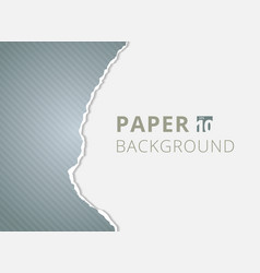 gray paper torn backgrounds with space for text vector image