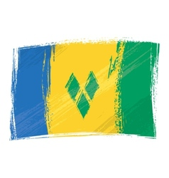 Grunge Saint Vincent and the Grenadines flag vector