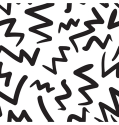 Hand-painted seamless pattern with zig-zag vector
