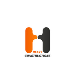 heavy constructions sign vector image