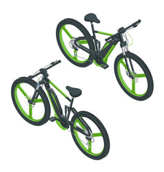 Isometric modern electric bicycle icons e-bike vector