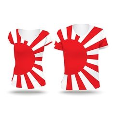 Japanese Naval flag shirt design vector