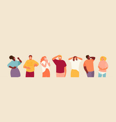 Laughing group people vector