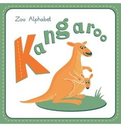 Letter K - Kangaroo vector