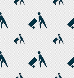 Loader icon sign Seamless pattern with geometric vector image