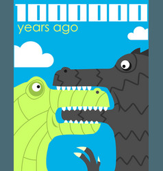 million years ago vector image