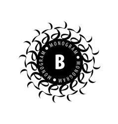 monogram in frame vector image