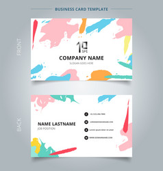 name card template abstract shapes art pattern vector image
