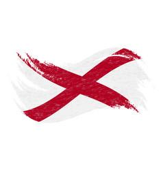 national flag of alabama designed using brush vector image