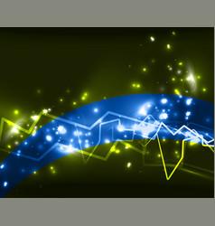neon lightning background vector image