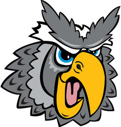 owl head logo mascot vector image