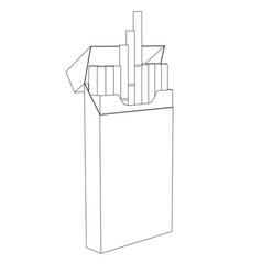 Pack cigarettes outline drawing vector