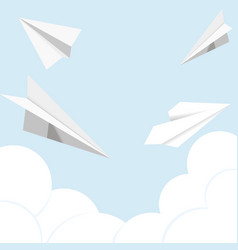 paper plane flat icon vector image
