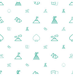 Peak icons pattern seamless white background vector