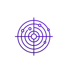 radar line icon on white vector image