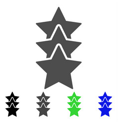 Rating stars flat icon vector