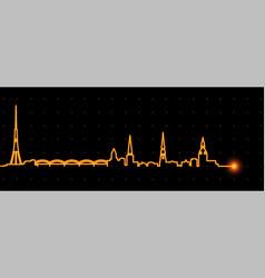 Riga light streak skyline vector