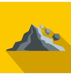 Rockfall icon in flat style vector