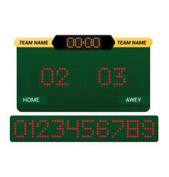 scoreboard score board digital display vector image