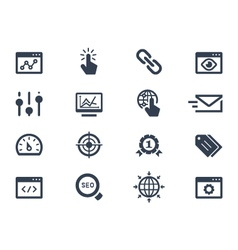 Seo and optimization icons vector image vector image