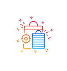 Seo shopping bags line icon search engine vector