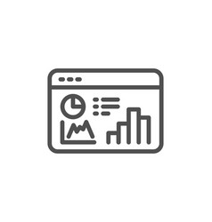 Seo statistics line icon search engine vector