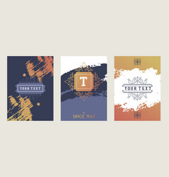 Set abstract banners book cover template vector