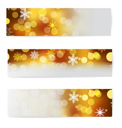 Set of christmas horizontal banners vector image