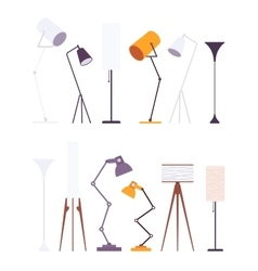 Set of floor lamps vector