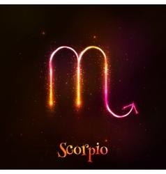 Shining neon zodiac symbol vector