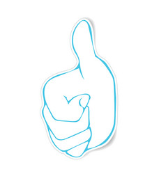 Stickers of very good hand gesture vector