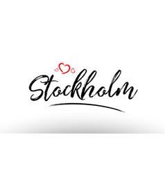 Stockholm europe european city name love heart vector