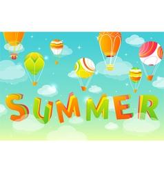 summer sky in vector image