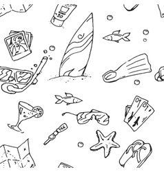 Surfing hand draw pattern vector