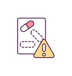 Tackling antimicrobial resistance rgb color icon vector