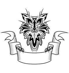 Tattoo cat vector