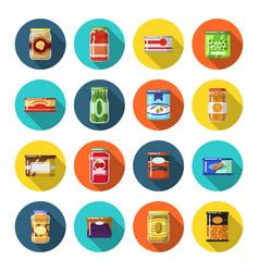 Tinned goods set vector