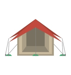 Tourism tent camping excursions vector