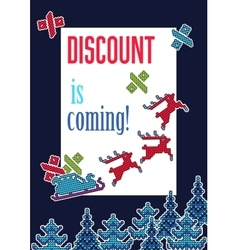 ugly sweater christmas sell 1 vector image
