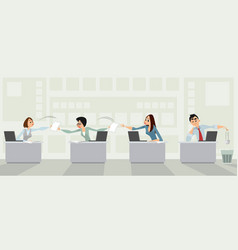 useless paperwork in the office vector image