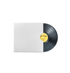 vinyl music record realistic vintage gramophone vector image
