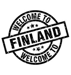 Welcome to finland black stamp vector